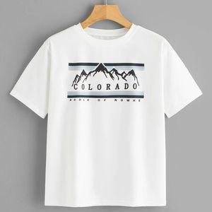 Colorado cropped tee